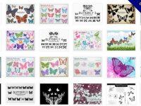 [ 蝴蝶素材 ] 40套PHOTOSHOP蝴蝶筆刷 / 手繪蝴蝶 / 蝴蝶圖案
