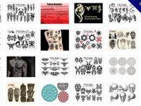 [ 刺青素材 ] 40套 PHOTOSHOP 刺青筆刷 / 刺青圖騰 / 刺青圖案設計