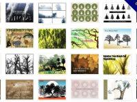 【樹筆刷】35套PHOTOSHOP 樹木筆刷,好用樹平面筆刷素材
