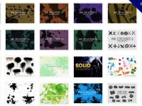 【書法筆刷】40套PHOTOSHOP 中國書法水墨筆刷下載