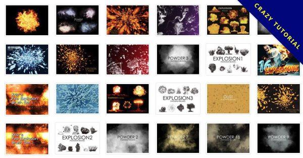 【爆炸筆刷】39套PHOTOSHOP 爆炸筆刷 / 爆炸特效 / 爆破效果