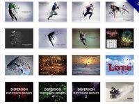 [ 粒子素材 ]  24套PHOTOSHOP 粒子筆刷 / 爆炸粒子 / 打散特效