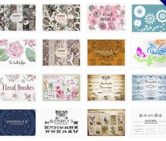 【花瓣筆刷】41套專業版PHOTOSHOP 花瓣筆刷免費下載