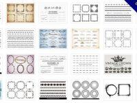 [ 邊框素材 ]  43套 PHOTOSHOP 邊框筆刷 / 邊框設計 / 免費邊框