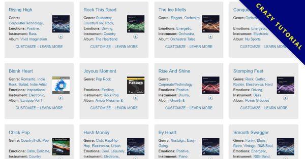 【音樂網站】Smartsound 線上無版權音樂網站,可線上直接做音樂剪接下載。