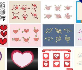 【愛心ICON】70套illustrator 愛心 icon素材下載,愛心向量圖案推薦
