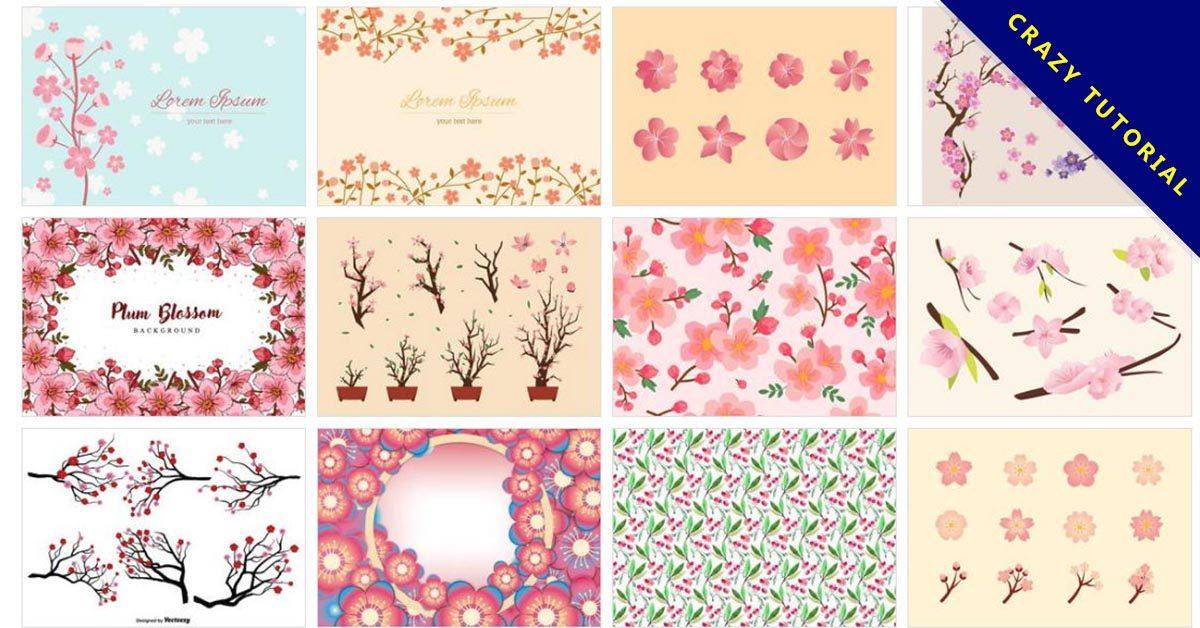 【櫻花素材】70套illustrator 櫻花背景圖案素材下載,櫻花花瓣推薦款
