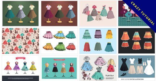 【圓裙版型】36種 illustrator 圓裙版型下載,洋裝版型推薦款