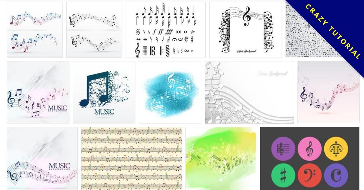 【音符圖案】102套 illustrator 音樂符號圖案下載,音樂圖案推薦