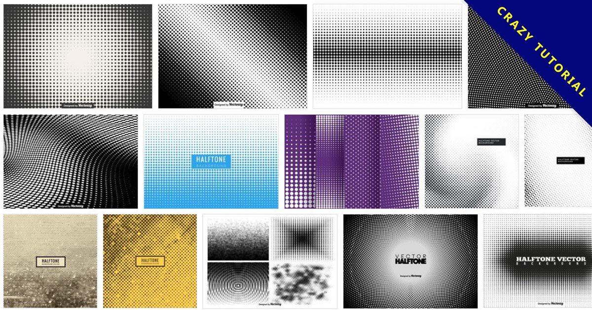 【網點素材】90套Illustrator AI網點素材下載,網點製作首選
