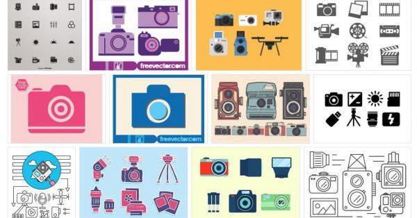 【相機素材】70套 illustrator 相機圖案下載,相機LOGO製作推薦款
