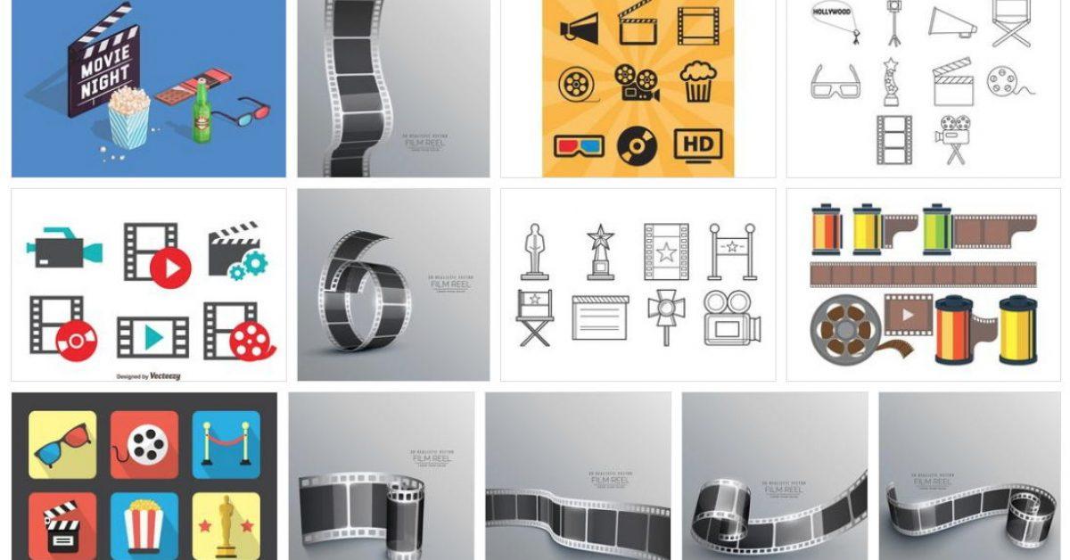 [ 膠卷素材 ] 70套illustrator 底片素材下載 / 底片圖案 / 底片邊框