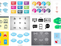 【WIFI符號】70套 illustrator WIFI ICON圖示下載 ,WIFI圖案推薦款