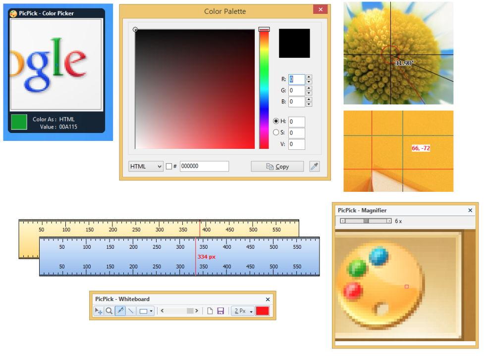 【电脑截图】PicPick 电脑截图软体下载,轻松将桌面截图下来。