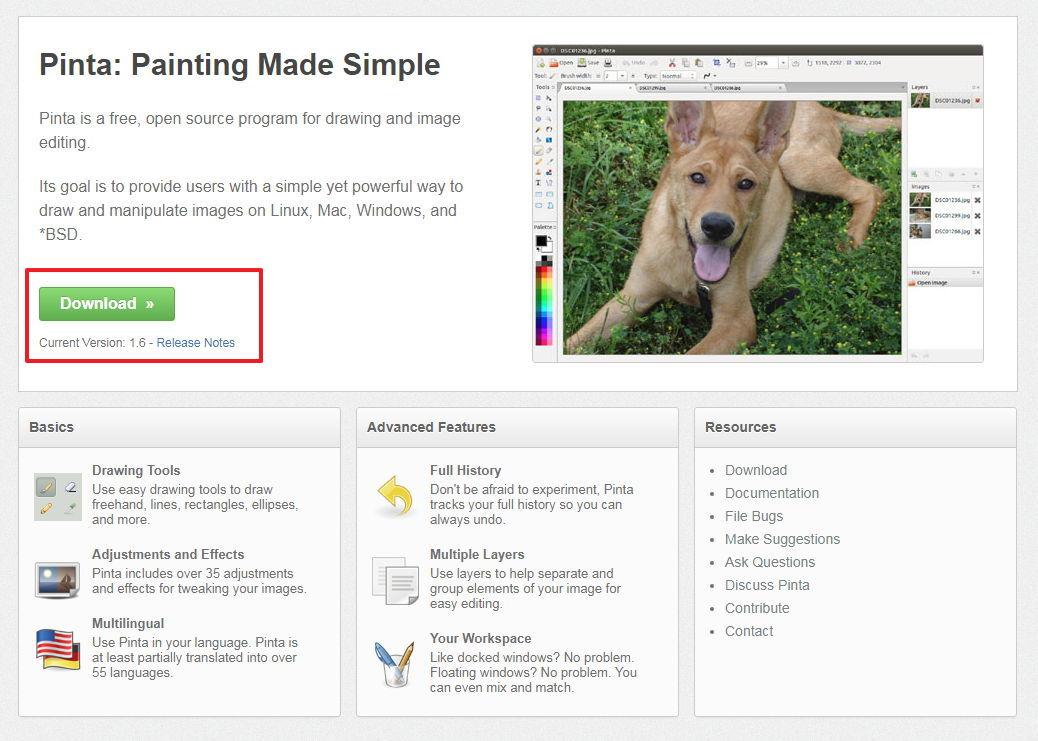 【相片编辑】Pinta 免费相片编辑工具下载,调整颜色、裁切、修图专用。