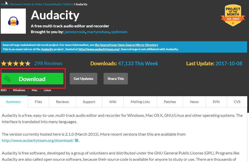 【录音软体】免费 Audacity 电脑录音软体下载,录音程式推荐款