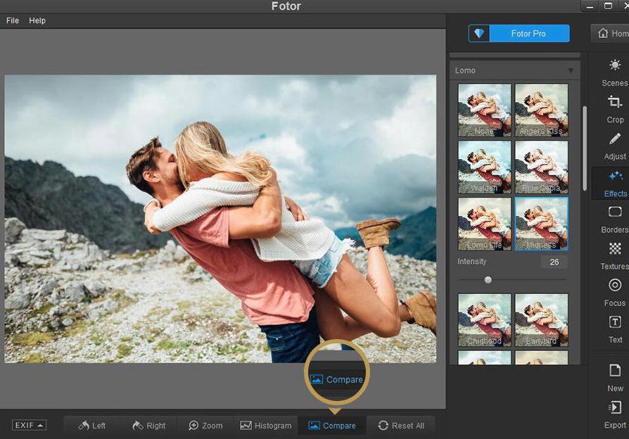 【图片后制】Fotor 图片后制软体下载,图片色调滤镜通通都免费使用。