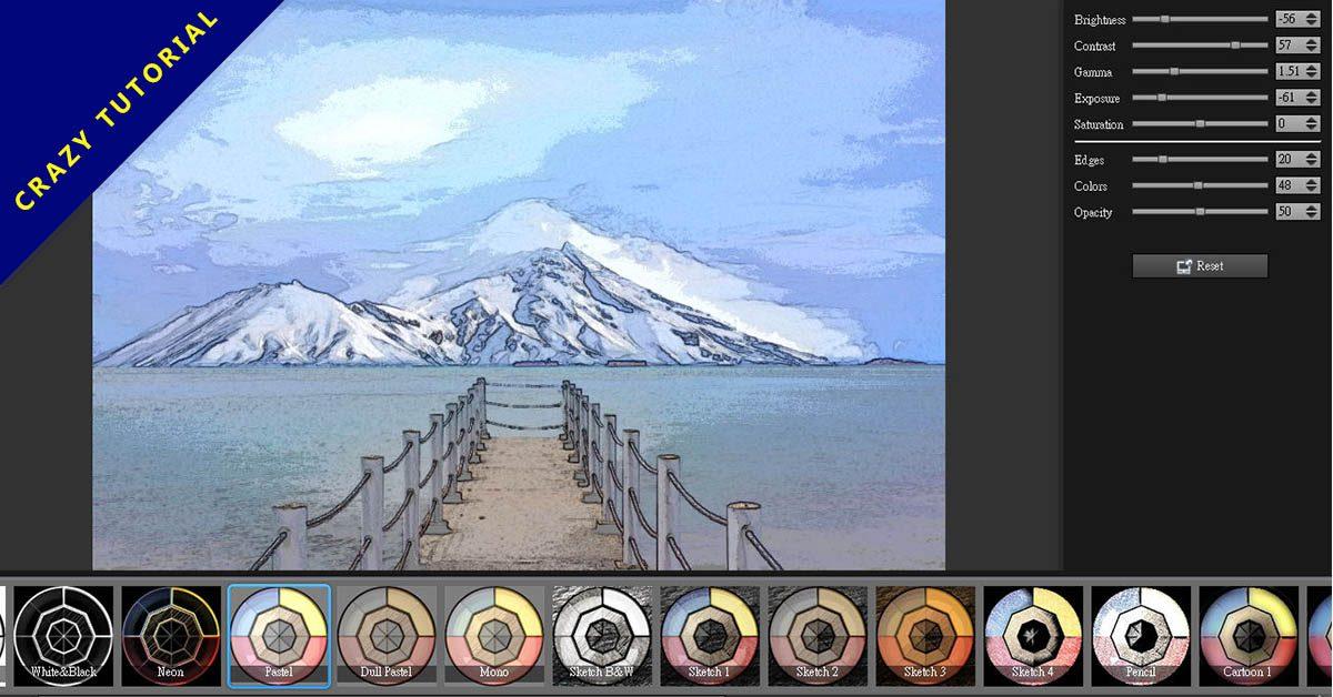 [ 免安裝 ] XnSketch 照片卡通化軟體下載,照片快速變成圖畫。