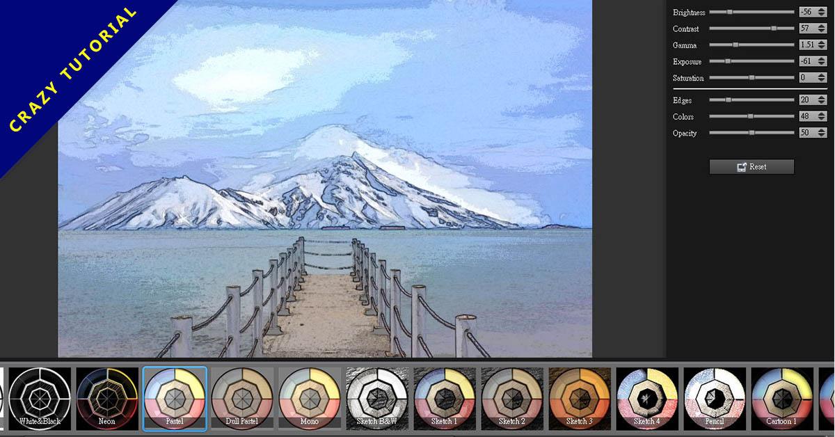 【照片卡通化】XnSketch 照片卡通化軟體下載