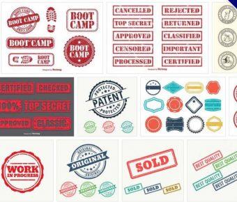 【印章圖案】73套完美橡皮印章圖案下載,印章製作推薦款