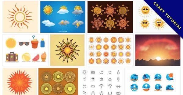 【太陽圖案】65款 illustrator 太陽圖片素材下載,太陽圖騰推薦款