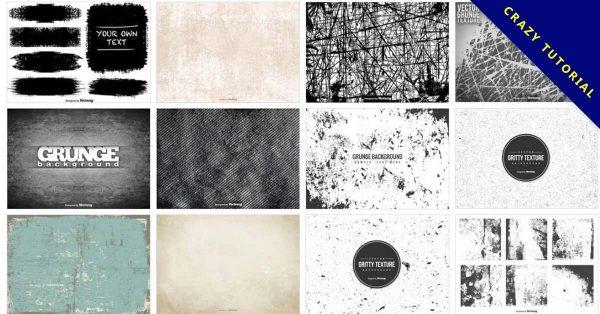 【斑駁素材】77套 illustrator 斑駁素材下載,創造出斑駁不堪的效果