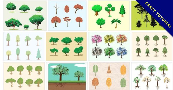 【樹素材】68套 illustrator 樹木素材免費下載,大樹圖案素材推薦