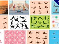 [ 瑜珈圖案 ]  70個 illustrator 瑜珈姿勢圖片下載 / 瑜珈動作圖