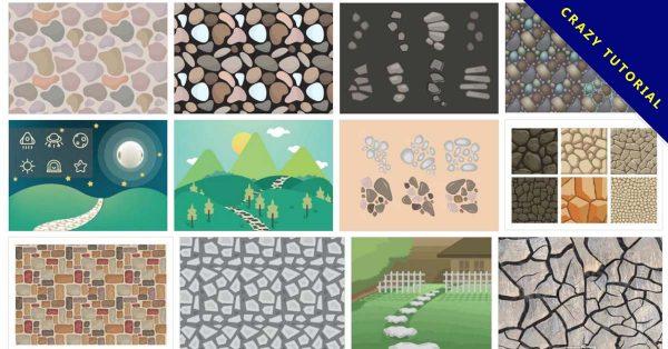 【石頭圖案】38套illustrator 石頭紋路圖案向量圖下載