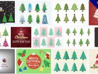 [ 聖誕樹素材 ] 70套 illustrator 聖誕樹圖案下載 / 聖誕樹圖片