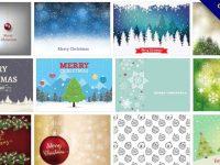 【聖誕節素材】101套 illustrator 聖誕節素材下載,聖誕節背景圖庫