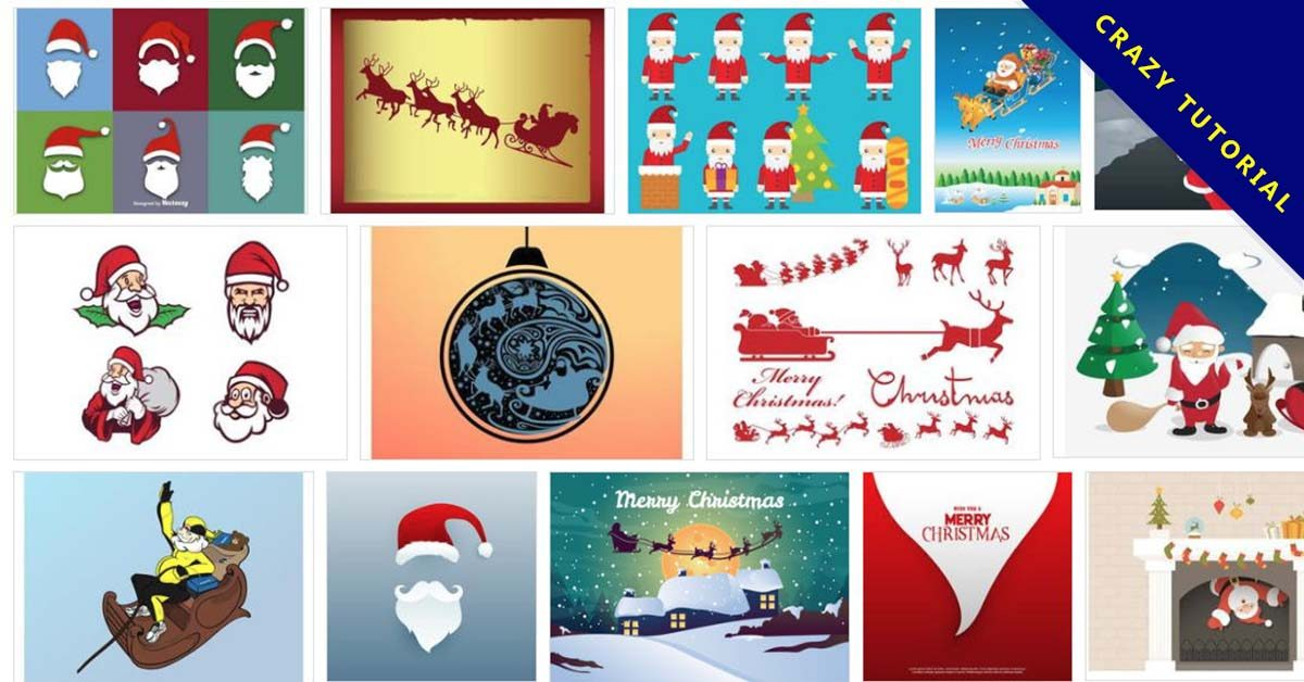72套免費 illustrator 聖誕老公公圖片下載 / 聖誕老人圖案