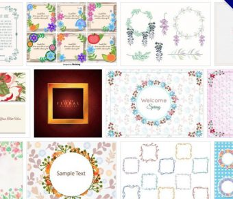 【花邊圖庫】65套illustrator 花邊邊框設計素材下載,歐式花邊推薦