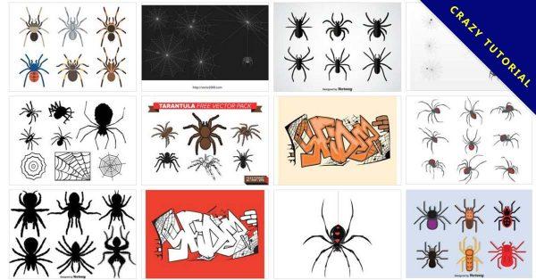【蜘蛛圖片】40套 illustrator 蜘蛛圖案下載,蜘蛛網素材推薦