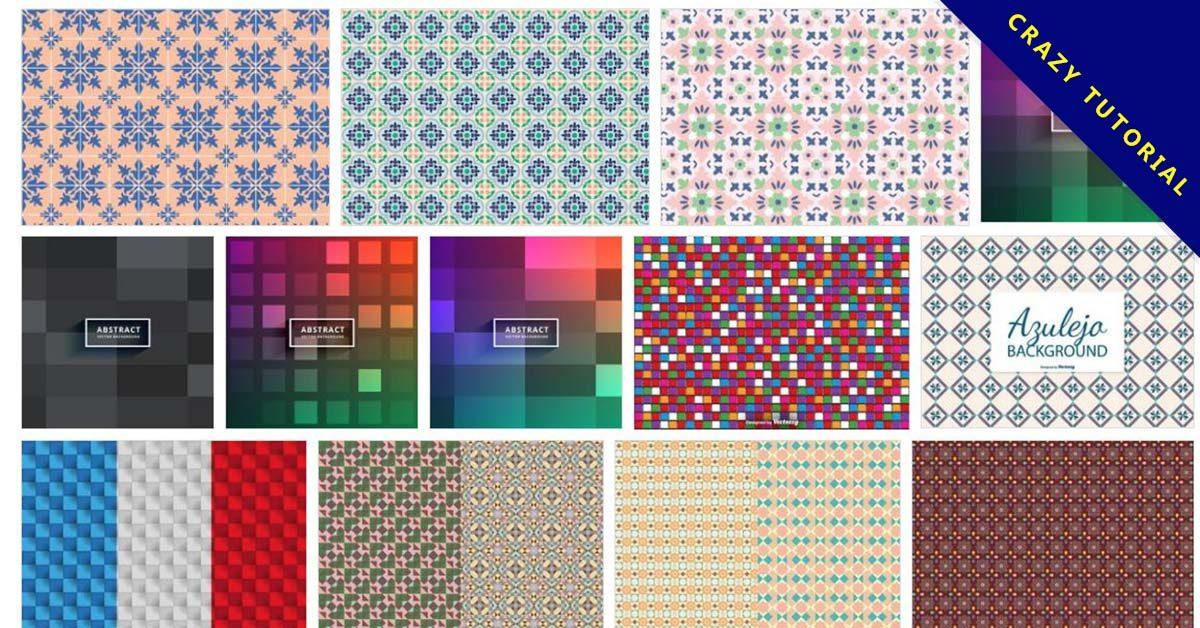 [ 馬賽克素材 ]  70套illustrator 馬賽克拼貼圖片 / 馬賽克圖案製作