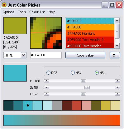 【吸色工具】Just Color Picker 萤幕取色工具,网页色彩轻松吸色。