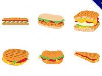 【三明治圖片】35套 Illustrator 三明治圖案下載,三明治素材推薦款