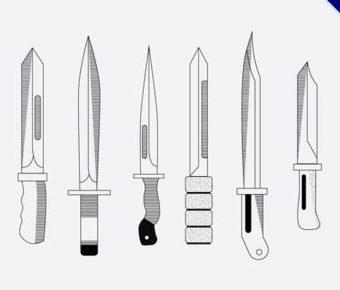 【刀素材】34套 Illustrator 刀符號下載,刀圖案推薦款