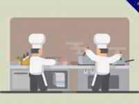 【廚師圖案】35套 Illustrator 廚師q版圖案下載,廚師素材推薦款