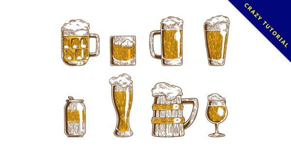 【啤酒圖片】38套 Illustrator 啤酒圖案下載,啤酒素材推薦款