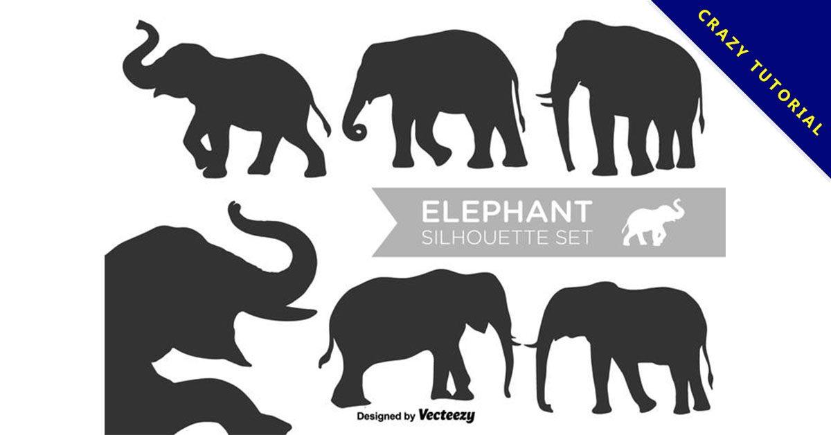 【大象卡通圖案】38套 Illustrator 大象Q版圖下載,大象圖案推薦款