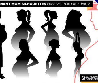 【懷孕卡通圖】34套 Illustrator 孕婦圖案下載,孕婦q版推薦款