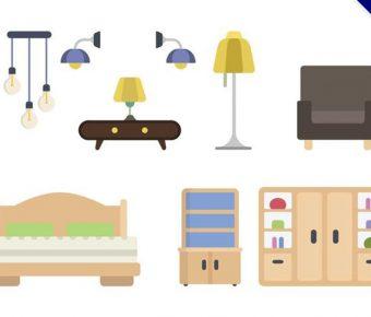 【家具素材】32套 Illustrator 家具圖片下載,家具ai推薦款