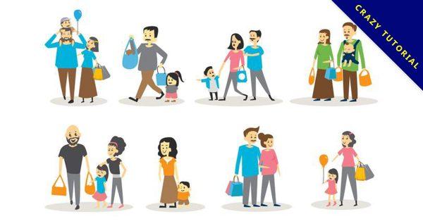【家庭圖片】30套 Illustrator 家庭卡通圖下載,家庭圖案推薦款