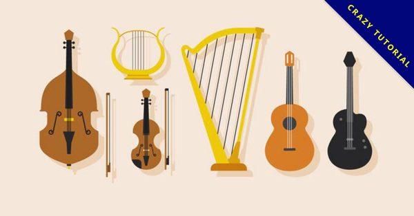 【小提琴圖案】34套 Illustrator 小提琴素材下載,小提琴插畫推薦款