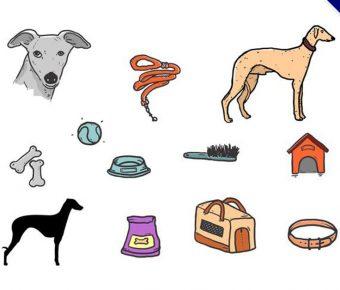 【小狗q 版圖】56套 Illustrator 小狗圖案下載,狗插畫圖推薦款