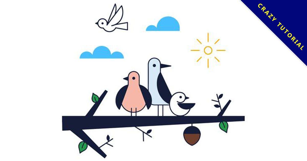 【小鳥卡通圖】38套 Illustrator 小鳥圖案下載,小鳥圖片推薦款