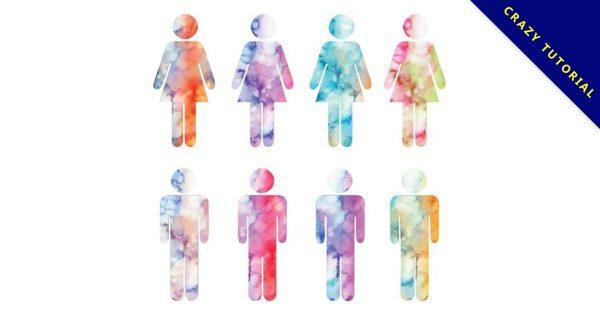 【男生符號圖】40套 Illustrator 女生符號圖下載,男女符號圖推薦款