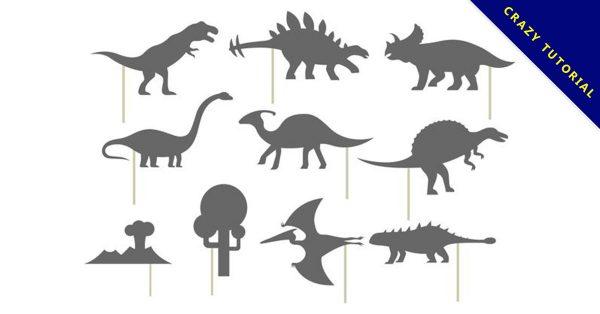 【恐龍卡通圖】36套 Illustrator 恐龍圖片下載,恐龍q版推薦款