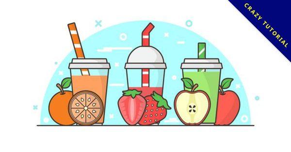【果汁圖片】31套 Illustrator 果汁圖案下載,果汁素材推薦款